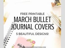 March Bullet Journal Cover Free Printables! Printables and Inspirations