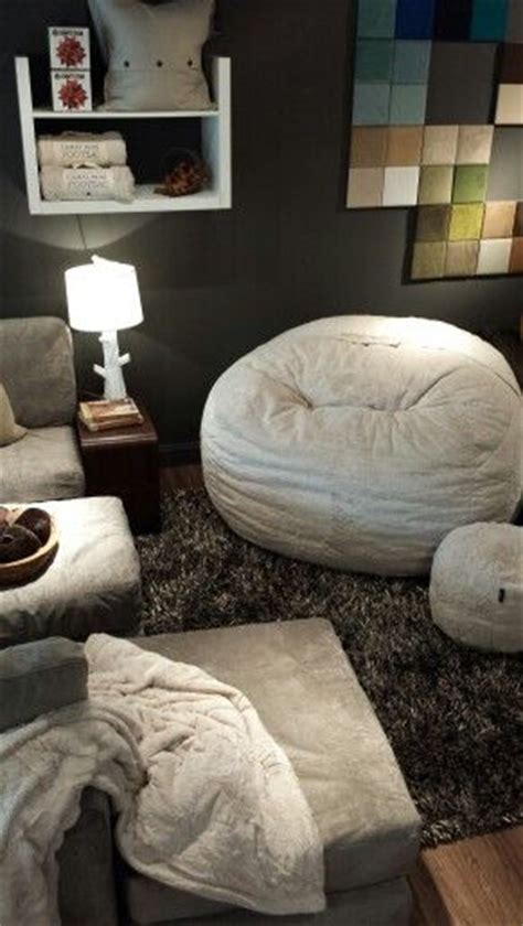 Lovesac Stonebriar Shown Camel Phur Supersac With A Taupe