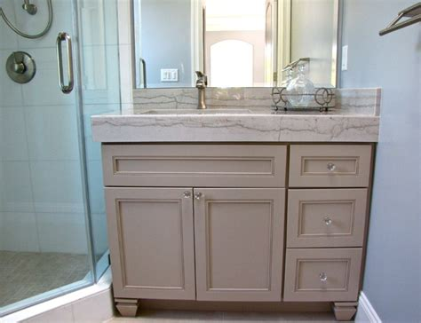 How To Install Bathroom Vanity Against Wall - footed vanity transitional bathroom san francisco