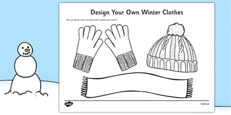 design   winter clothes winter clothes colouring