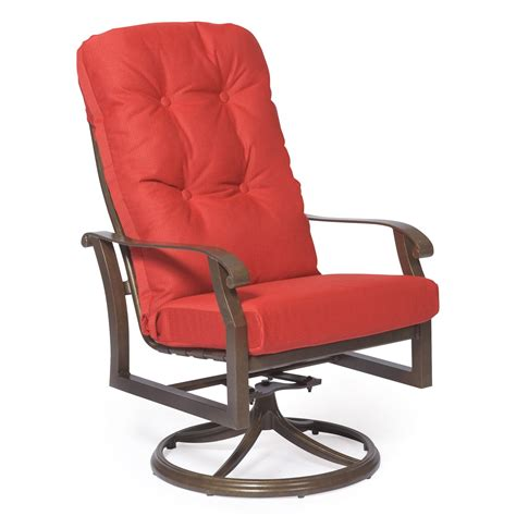 woodard cortland cushion high back swivel rocker dining