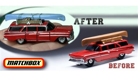 matchbox chevy detailing matchbox 1959 chevy brookwood wagon fun diy