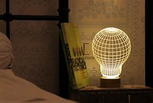 3d Led Lamp Design 2d Led Lamp With 3d Visual Effect That Tricks Your Eye And