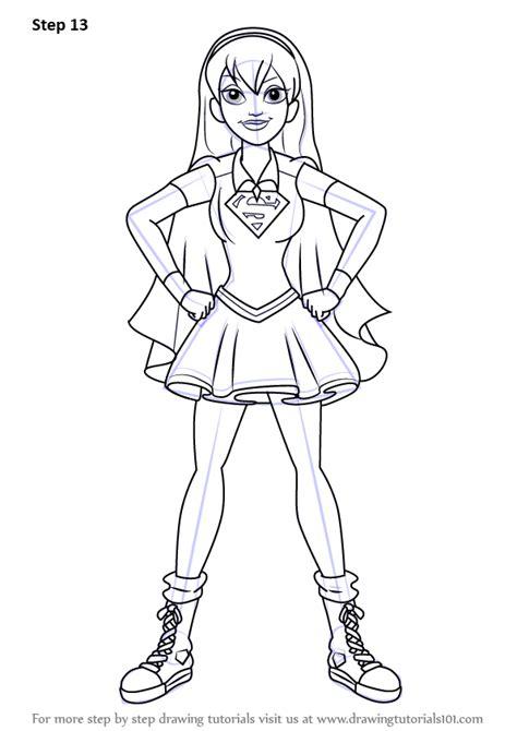 learn   draw supergirl  dc super hero girls dc super hero girls step  step