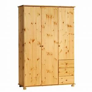 Kleiderschrank 3 Meter : kleiderschrank britta 3 t rig kiefer gebeizt ge lt d nisches bettenlager ~ Indierocktalk.com Haus und Dekorationen