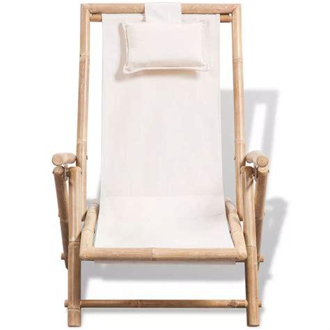 la chaise de bambou acheter vidaxl chaise de terrasse en bambou pas cher