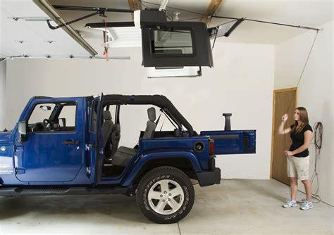 jeep wrangler storage harken 7803b hoister garage storage 4 point lift system