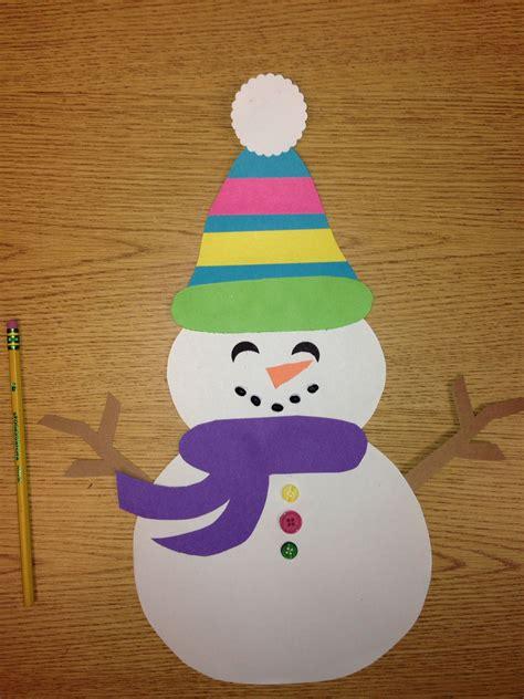 snowman craft easy kindergarten or 1st grade i used 507 | 8f6902343166315c69e5823a4e07b00e