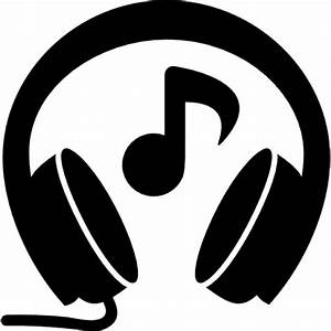 Headphones with music note Icons | Free Download