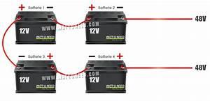 Branchement D U0026 39 Un Parc De Batteries Solaires En 48v