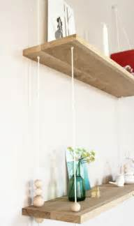 DIY Hanging Shelves with Rope