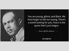 TOP 25 QUOTES BY JAMES WELDON JOHNSON of 57 AZ Quotes