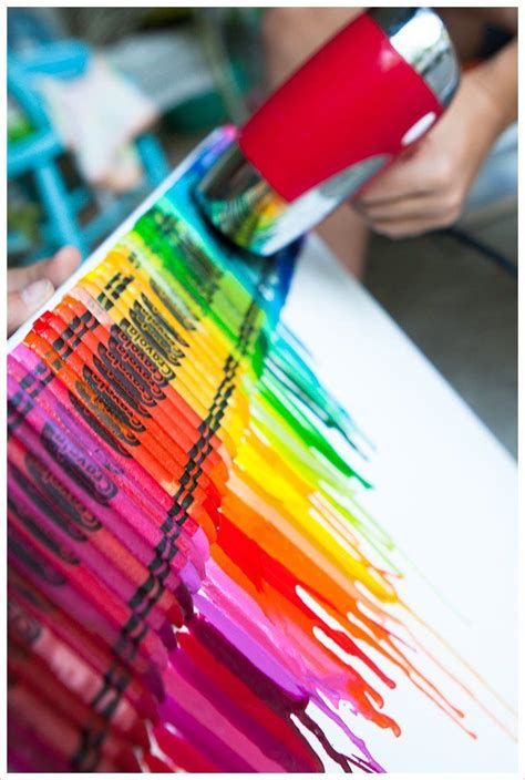 diy melted crayon art pictures   images