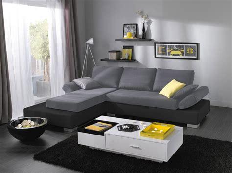 canapé et gris canapé d 39 angle noir et gris