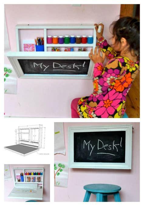 flip  wall art desk art desk kids storage desks