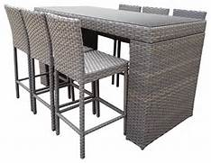 Patio Furniture Pub Table Sets by Harmony Bar Table Set With Barstools 7 Piece Outdoor Wicker Patio Furniture