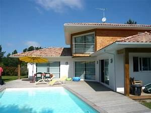 maison bois bbc et passive constructeur maison en bois With maison bois avec piscine