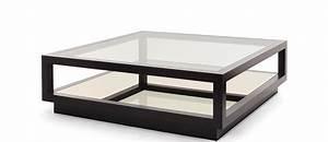 Table Salon Carrée : table basse noir et bois 3 table basse carree verre cgrio ~ Teatrodelosmanantiales.com Idées de Décoration