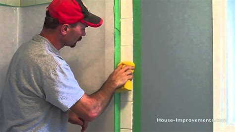 How To Remove Bathroom Grout by How To Grout Wall Tiles Youtube