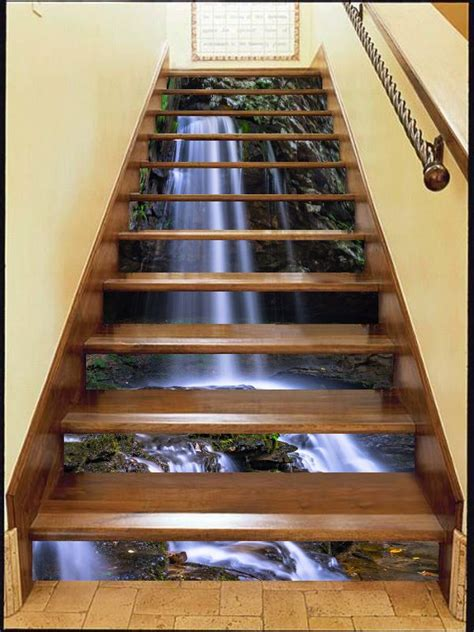 Home Design 3d Stairs by 3d Waterfall Stair Risers Decoration Photo Mural