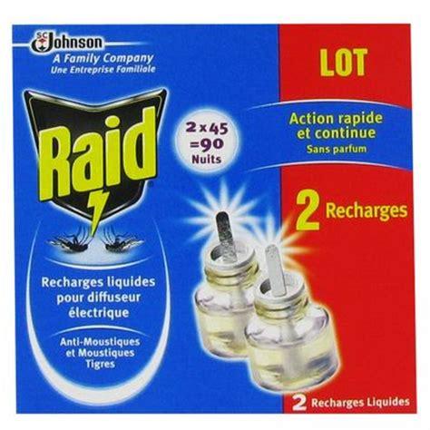rechage pour diffuseur electrique anti moustiques raid 2x45nuits tous les produits