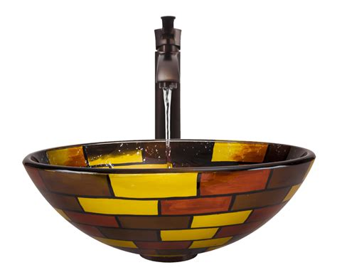 Stained Glass Vessel Bathroom Sink