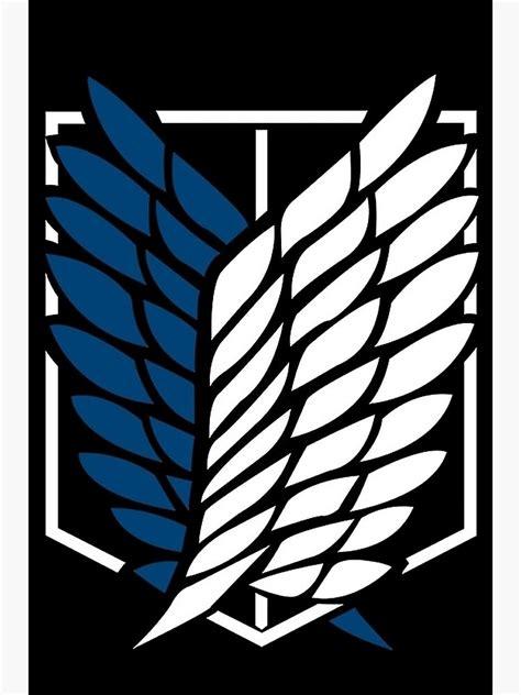 shingeki  kyojin logo photographic print
