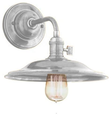 industrial saucer sconce wall sconces by shades of light