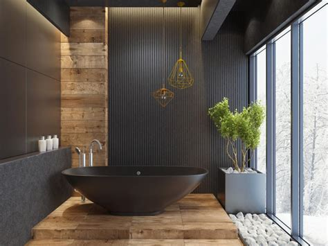 black bathroom ideas  inject  character