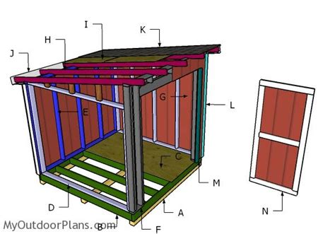 lean to shed plans 8x8 8x8 lean to shed roof plans myoutdoorplans free