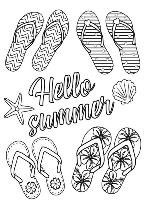 easy  print summer coloring pages tulamama