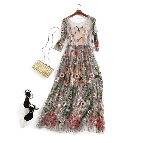 No 1 Embroidery Dress embroidery dresses runway floral bohemian flower