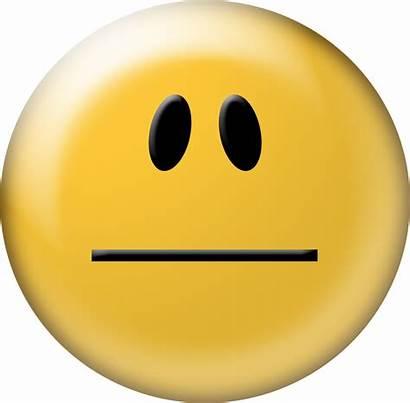 Neutral Smiley Face Emoticon Transparent Clipart Background