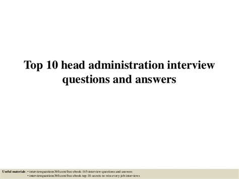 top 10 administration questions and answers