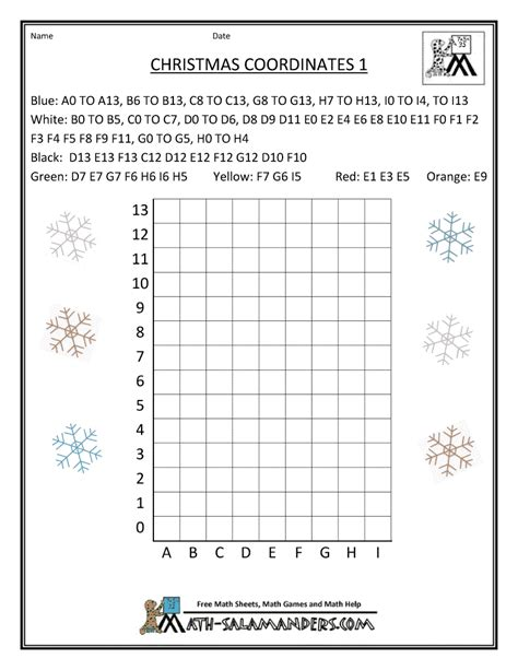Christmas Graphing Worksheets Coordinate  Search Results  Calendar 2015