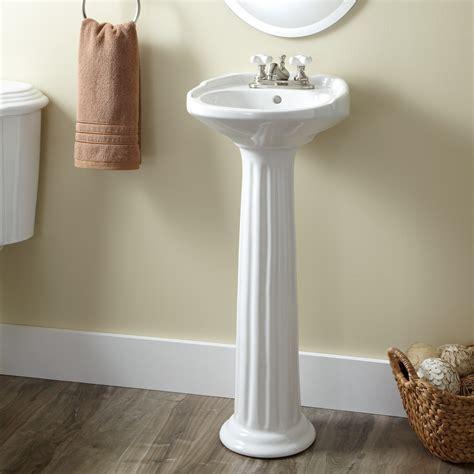 small pedestal sink ultra porcelain pedestal sink bathroom