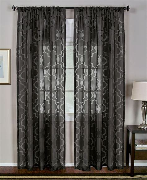 Macys Curtains For Living Room by Elrene Montego Burnout Sheer 52 Quot X 84 Quot Panel