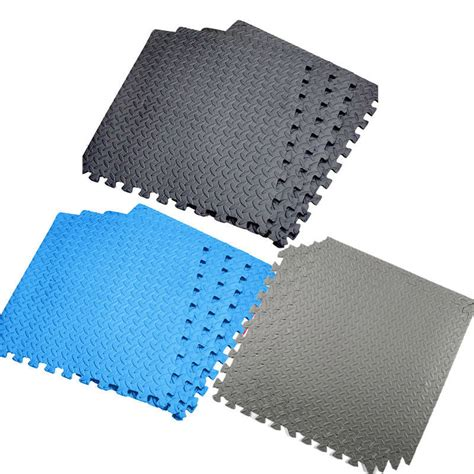 interlocking soft foam exercise floor mats garage
