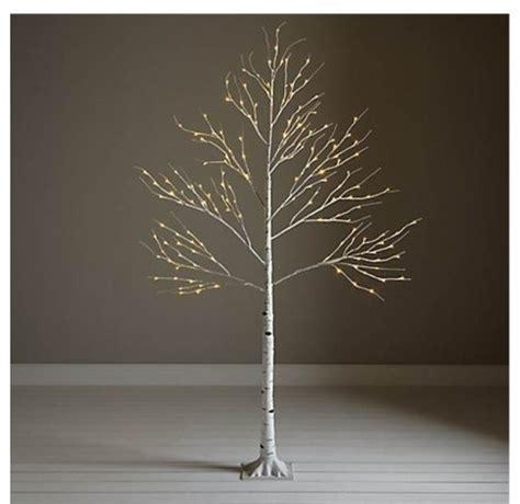 john lewis pre lit paper birch christmas tree white 6ft