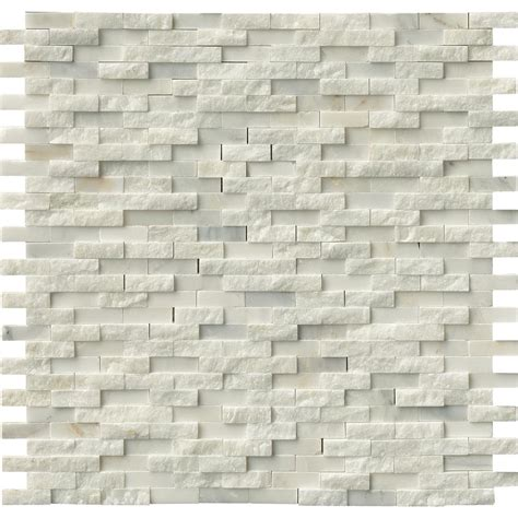Home Depot Wall Tile Class by Ms International Greecian White Splitface 12 In X 12 In