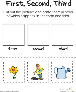 second third a gardener s thumb worksheet 378 | gardener thumb comprehension kindergarten