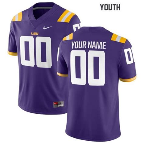 Youth LSU Tigers Custom Name Number Jersey NCAA Football ...