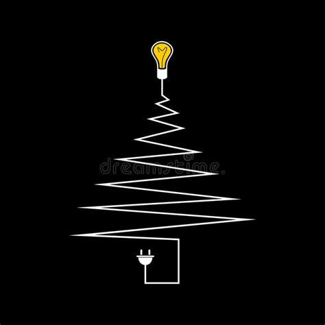 elektrischer weihnachtsbaum vektor abbildung