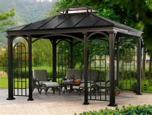 Wilson And Fisher Patio Furniture Big Lots by 10 X 12 Aluminum Hardtop Gazebo Ebay