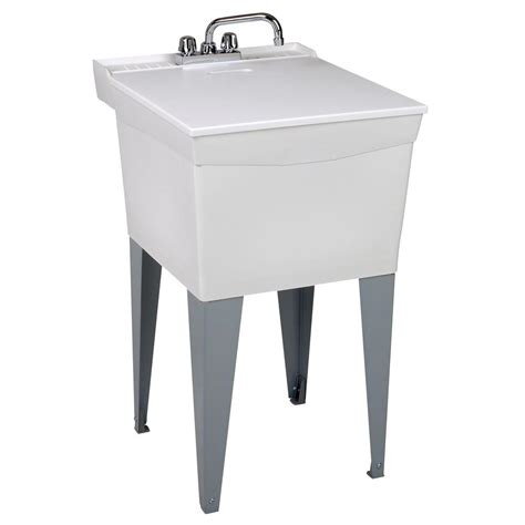 home depot laundry sink mustee 20 in x 24 in plastic floor mount laundry tub