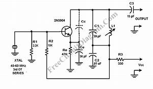 crystal oscillator using transistor capable of overtone With armstrong oscillator circuit diagram and wiring schematic