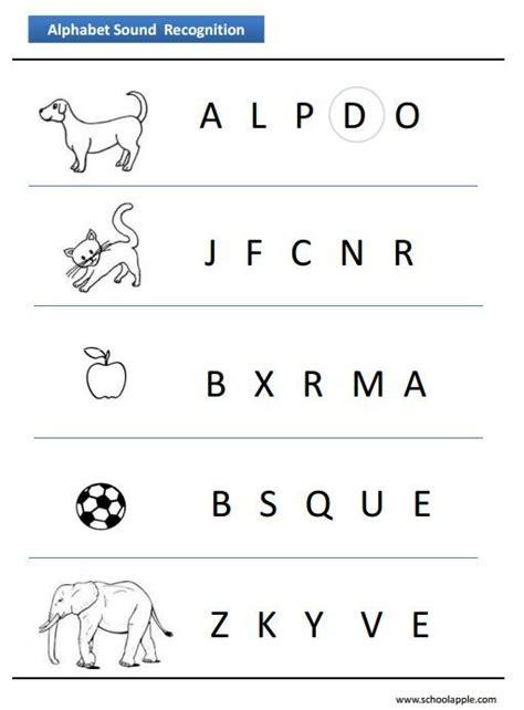 alphabet recognition worksheet httpwwwschoolapplecom