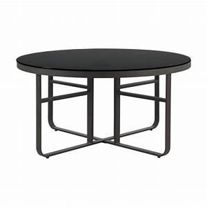 Table Ronde Aluminium : awesome table de jardin ronde verre et aluminium photos awesome interior home satellite ~ Teatrodelosmanantiales.com Idées de Décoration