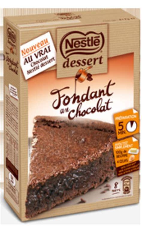 pr 233 paration pour fondant au chocolat de nestl 233 dessert