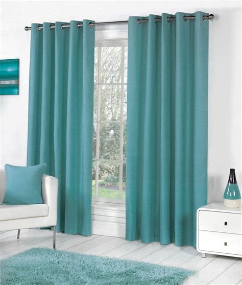 17 best ideas about teal eyelet curtains on